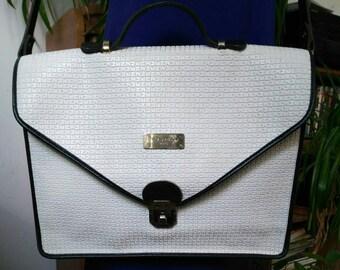 Vintage Ted Lapidus white satchel