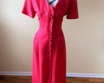 Vintage 1980s Dress/ Dawn Joy Fashions Dress