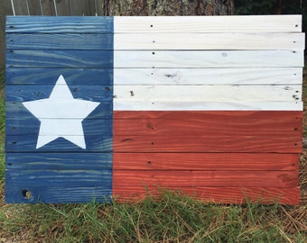 Wooden Texas flag, reclaimed wood, pallet wood