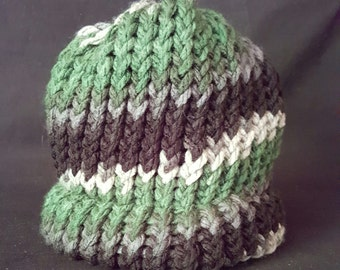 Green and Black Infant Beanie