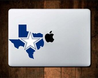 Texas Vinyl Decal Dallas Cowboys Star (Yeti Cups, Tumbler, Car Window, Laptop, Yeti Cooler, Etc.)