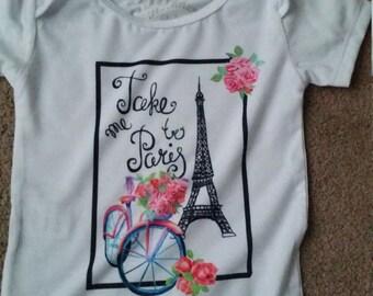Baby girl Paris theme onsie