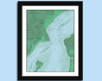 Cook Inlet AK  - Nautical Chart Decor
