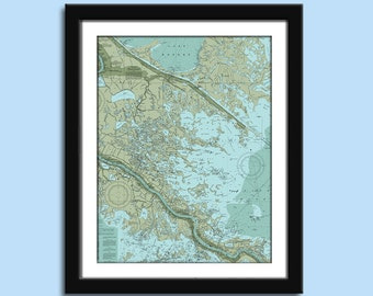 New Orleans - New Orleans Chart - Nautical Chart Decor