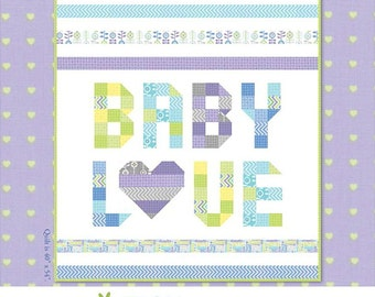 From Bump to Baby QUILT KIT - Quilt Pattern & Moda Fabric by Gina Martin // Make this in the color of your choice!