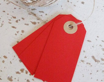 Parcel Tags Pk10 - Red