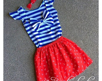 Bow back Sailor outfit