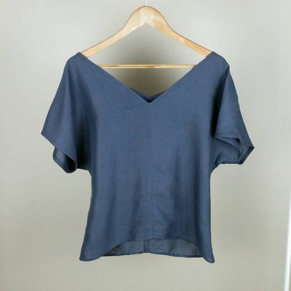 Indigo Linen Top from Linen Creek