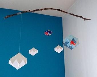 Geometric origami mobile