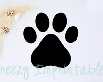 Digital File - Instant Download - Pawprint Digital File - SVG - PDF - EPS