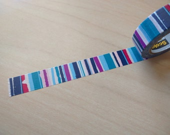 Watercolor Stripe washi tape sample 24 inches
