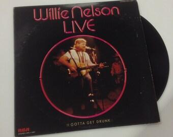 """Willie Nelson """"Live"""" LP"""