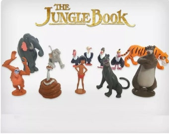 Mister A Gift Disneys Jungle Book set of 12 plastic Cake Toppers