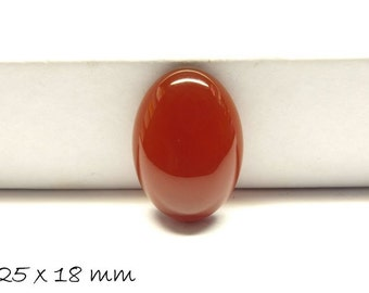 1 PCs gemstone cabochons agate, 25 x 18 mm, Red