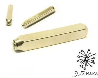 1 design stamp flower 9.5 mm punch hallmark