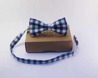 Linen blue Toddler bow tie / Boy's bow tie