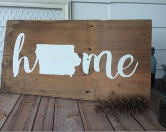 Home Hand Painted Rustic Reclaimed Barn Wood Sign