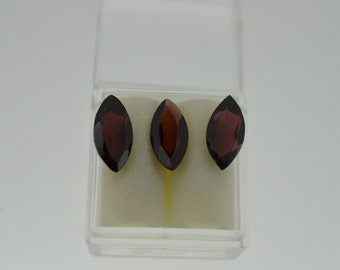 Garnet  - 3 Gemstones