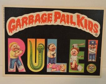 1986 Giant Garbage Pail Kids Sticker