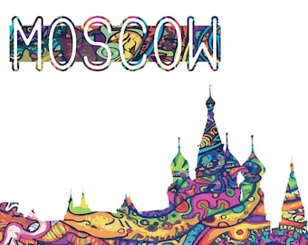 25% OFF:Moscow  Print, Art Print,Moscow  poster, Art Moscow print, Colorful Home Decor, Travel Poster, Printable Poster, City names print