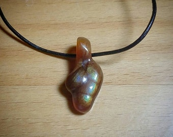Fire Agate Pendant~Hand Carved