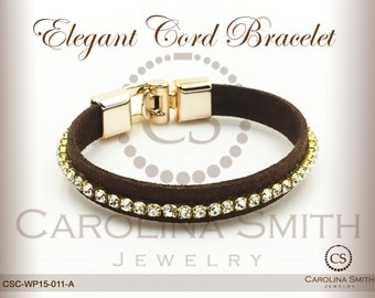 Elegant Cord Bracelet by Carolina Smith Jewelry