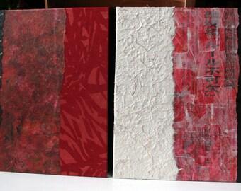 Portefolio accordéon carré 23X23cm - Inspiration Japon. Dessin, herbier, album-photo, écriture, ...Couverture carton 3 mm.