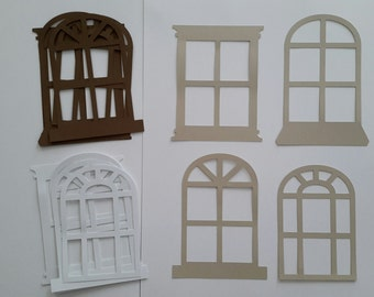 8 Window frame Die cuts - 4 styles - Card making die cuts - Scrapbooking & project die cuts