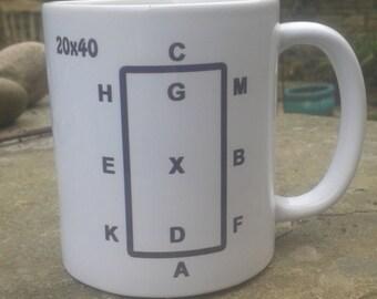 Dressage Arena Mug