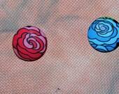 Red or Blue Rose Needle Minder