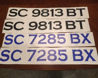 Vinyl Boat Registration letters and numbers