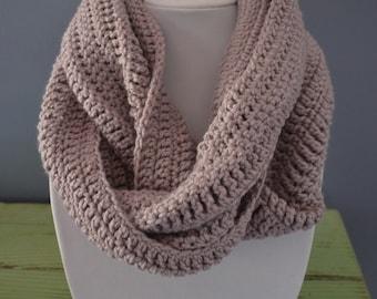 Lavender Crochet Infinity Scarf