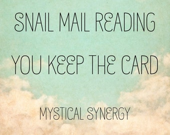 Snail Mail Psychic Channeled Tarot Reading