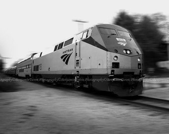 Train Photography, The Adirondack, Amtrak Train Photography, Black and White Photography, Landscape Photography, Fine Art Photography