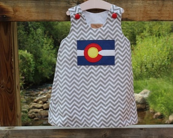 Gray Chevron Colorado Dress