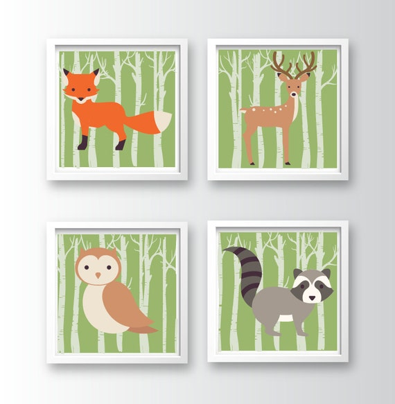 Woodland Nursery Wall Decor : Woodland nursery wall art by divinedesignbv