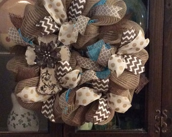Free S&H on this gorgeous small cross wreath