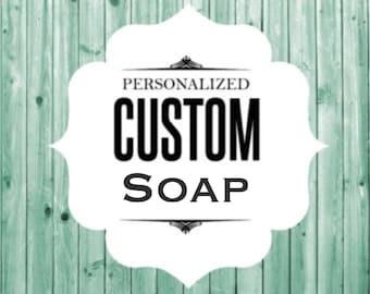 Homemade Handcrafted Vegan Personalized Custom Sandard Bar Soap