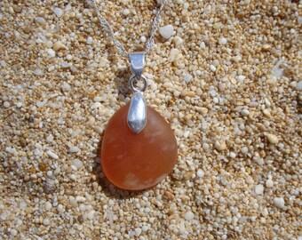 Beach rock pendent orange
