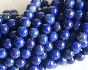 "Wholesale Natural Genuine Blue Lapis Lazuli Round Loose Gems Beads 6mm 16"" 04150"
