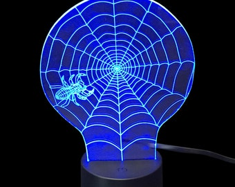 Spider Web- LED Night Light Lamp 3D