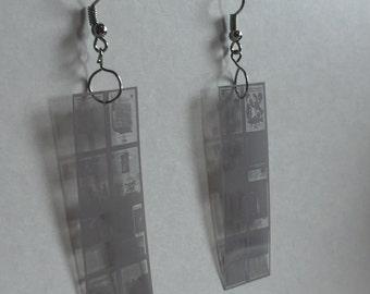 Mircofiche Earrings (Long)