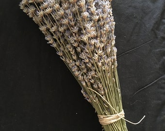 Dried English Lavender Bouquets wrapped.