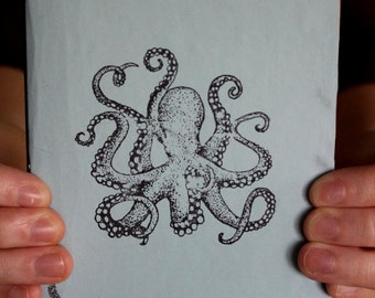 Light Blue Octopus Sketchbook