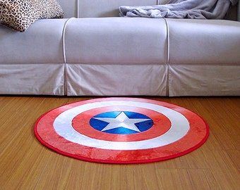 New! Captain America Shield Rug