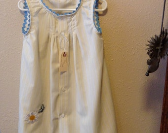 Up cycled Toddler Dress from Man's Dress Shirt