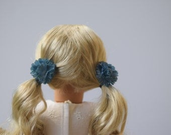 Dusty Blue hair clips // Set of 2