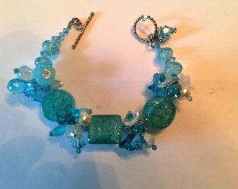 Sanibel Dreaming- Handmade Lampwork Bracelet