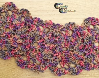 coasters Crochet in different colors