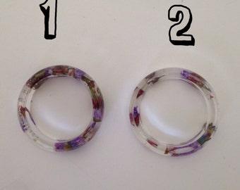 Purple Flower Rings